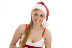 Attractive Mrs. Santa. Stock Images