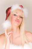 Attractive mrs. Santa Stock Images