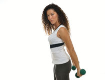 Attractive multi ehtnic female athlete working out Royalty Free Stock Photography