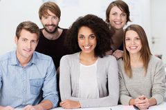 Attractive multiethnic group of young people Stock Photography
