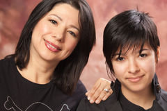 Attractive Multiethnic Mother & Daughter Portrait Royalty Free Stock Photography