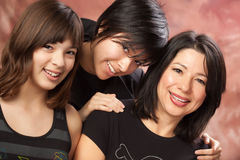 Attractive Multiethnic Mother and Daughters Portra Stock Photo