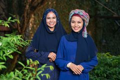 Attractive muslim women Stock Photography