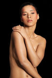 Attractive naked woman. Front view. Royalty Free Stock Photos