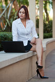 Attractive native American businesswoman Royalty Free Stock Image