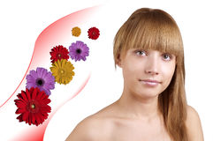 Attractive natural woman face Royalty Free Stock Images