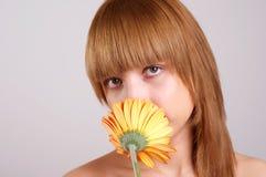 Attractive natural woman face Royalty Free Stock Photos