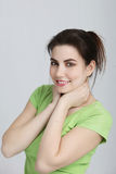 Attractive natural young woman Royalty Free Stock Images