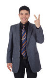 Attractive Nepalese businessman, fingers Stock Photo
