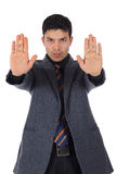 Attractive Nepalese businessman, palms Royalty Free Stock Photography