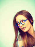 Attractive nerdy woman in weird glasses Stock Image