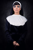 Attractive nun Royalty Free Stock Images