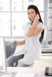 Attractive office girl Royalty Free Stock Photography