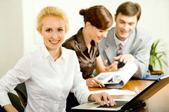 Attractive office worker Stock Photography