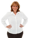 Attractive Older Female With Hands On Hips Royalty Free Stock Images