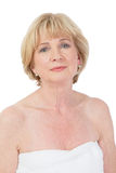 Attractive older lady at the spa Stock Images