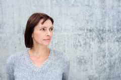 Attractive older woman looking away Royalty Free Stock Photos