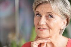 Attractive older woman Royalty Free Stock Photography