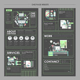 Attractive one page website design Royalty Free Stock Image