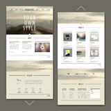 Attractive one page website template design Stock Photography