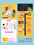 Attractive one page website template design Stock Photo