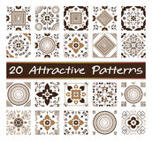20 attractive patterns. Patterns, texture and background abstract Stock Photo