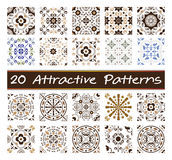 20 attractive patterns. Patterns, texture and background abstract Stock Image