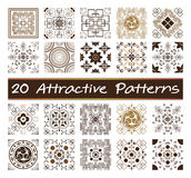 20 attractive patterns. Patterns, texture and background abstract Royalty Free Stock Images