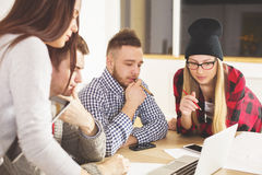 Attractive people working together Royalty Free Stock Photo