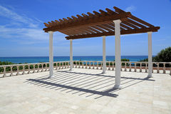 Attractive pergola. By the sea in South Florida Stock Photos