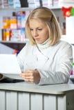 Attractive pharmacist Stock Photos