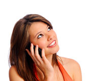 Attractive phone girl Stock Photography