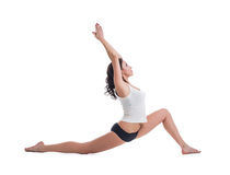 Attractive pilates trainer, isolated on white Stock Photo