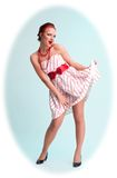 Attractive pinup woman royalty free stock image