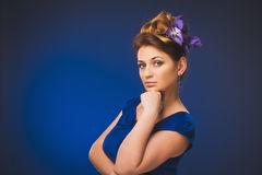 Attractive plus size model. Royalty Free Stock Images