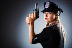 Attractive police Stock Images