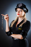 Attractive police office Stock Image