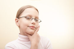 Attractive portrait of cute little girl Royalty Free Stock Image