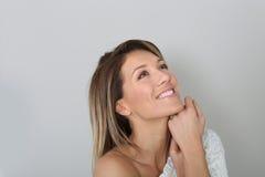 attractive portrait smiling woman Стоковые Изображения RF
