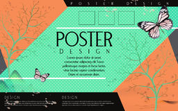 Attractive poster template design Stock Photography
