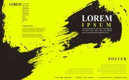 Attractive poster template design Stock Photo