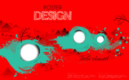 Attractive poster template design Royalty Free Stock Photos