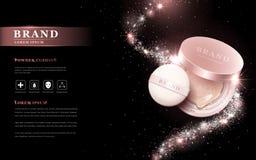 Attractive powder cushion ads Stock Image