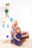 Attractive preschool girls Royalty Free Stock Photos