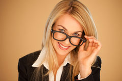 Attractive professional woman in glasses Stock Images