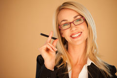 Attractive professional woman smoking Stock Photo
