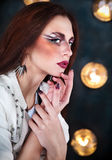 Attractive punk girl with cool make up Stock Image