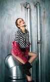 Attractive punk girl with cool make up Royalty Free Stock Images