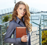Attractive Real Estate Agent Woman Royalty Free Stock Photo