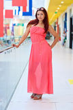 Attractive red hair woman in fashion dress Royalty Free Stock Photos